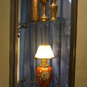 Bordslampa och vaser