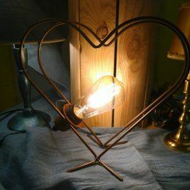 Hjärtformad lampa