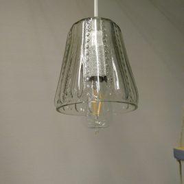 Lampa av gammalt glas